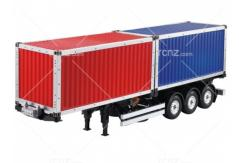 Hercules Hobby - 1/14 3-Axle Twin 20 Foot Container Trailer image