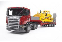Bruder - Scania R Series Low Loader with Bulldozer image