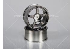 CS Model - 1/10 Wheel Set 5 Spoke Chrome 26mm image