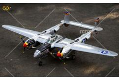 VQ Model - P-38 Lightning Twin Silver EP/GP 46 Size ARF Kit image