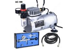 Fengda - Mini Compressor with Gravity Feed Airbrush image
